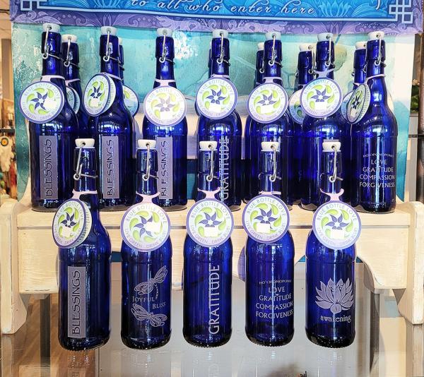 Blue Love Bottles