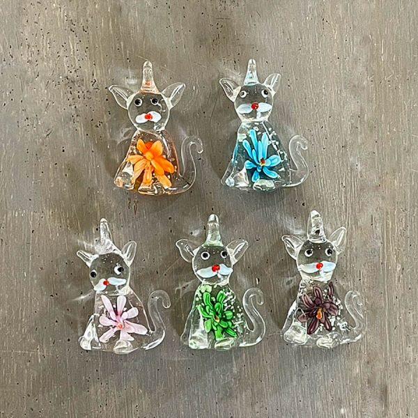 The Dark Cat Murano Glass Pendant