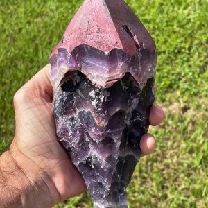 Very Large Auralite 23 Crystal Rare & Genuine Red Cap from Canada 3.5 LBS 8 1/2″