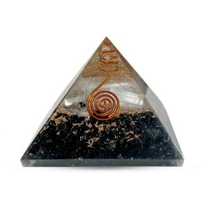 Selenite Black Tourmaline Pyramid